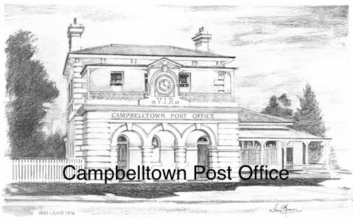 Campbelltown Post Office $15 (A4 print)