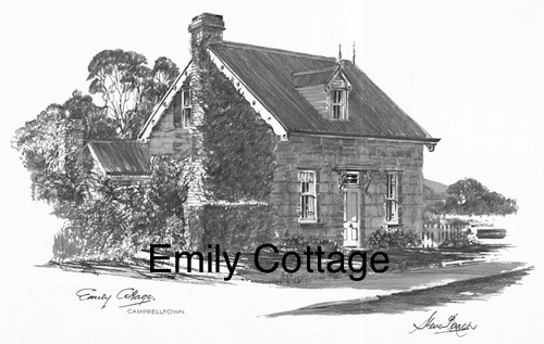 Emily Cottage $15 (A4 print)