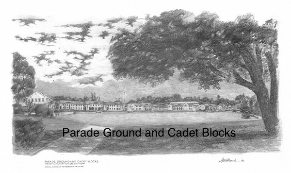 Parade Ground and Cadet Blocks $60