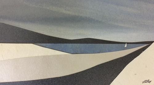 Tranquility I, SOLD, 13x7cm (image), 27x21.5cm (frame)