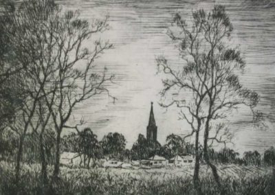Camden $260 (framed etching), 15x19.5cm (image), 37x39.5cm (frame); unframed also available (20x15cm)