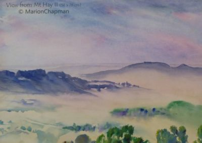 View from Mt Hay II, $695, 56x76cm