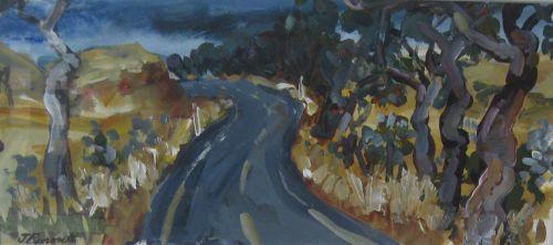 Winding Road $450, 16x36cm