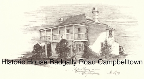 Historic House Badgally Road Campbelltown $15 (A4 print)