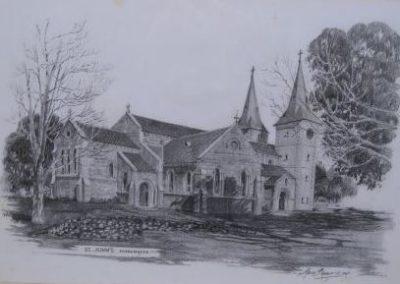Anglican Church St John's Parramatta, $2200 neg., 38.5x58.5cm