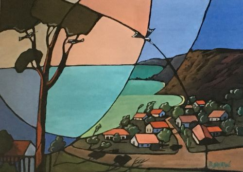 Doreen Shaw, Looking South Bermagui, $580, 26x36cm