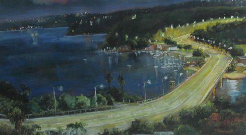 Jane Bennett, Spit Bridge by Night, $2500 neg., 43x75.5cm