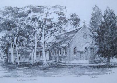 St Barnabas Anglican Church Ingleburn $1800 neg., 36x53cm