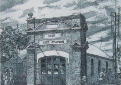 Camden Fire Station, $140 (re-sale), 21x17cm