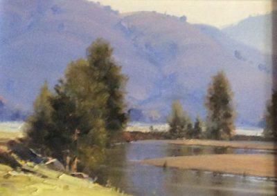 Murrumbidgee Reflections, $1200, 34.5x48.5cm