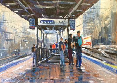 The Commute, $300, 18x13cm