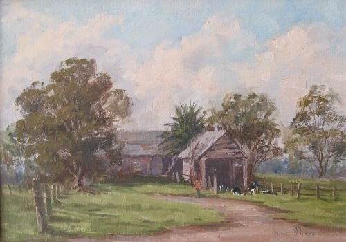 Olive McAleer, Farm Life Cawdor, SOLD, 24x34cm (re-sale)