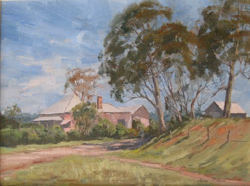 Olive McAleer, Farmhouse Cawdor, SOLD, 29.5x39cm (re-sale)