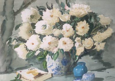 Marjorie Baker, Iceberg Roses, $380, 58x45cm