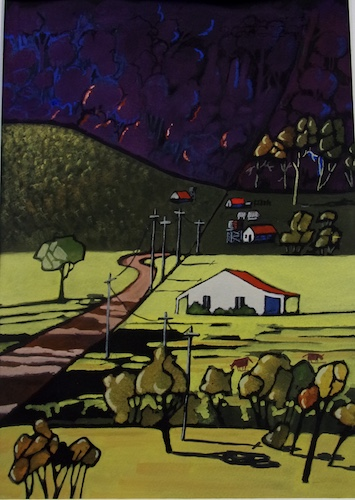 Kangaroo Valley, SOLD, 25.5x36cm