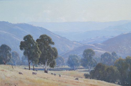Leonard Long, Morning at Strath Creek, Yea, Victoria, $3750neg., 50x75cm (re-sale)