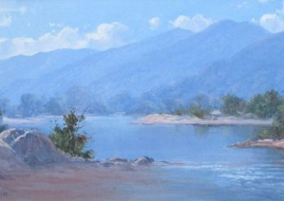 Snowy River, Kosciuszko National Park, $2200, 30x59cm (re-sale)