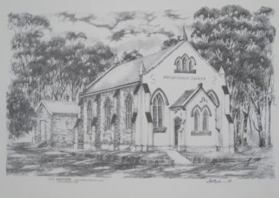 St David's Church, Campbelltown, $1800, 35x54.5cm