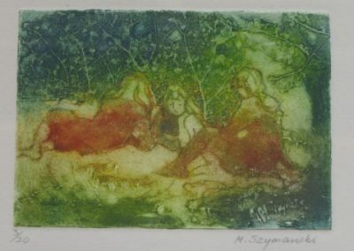 Summer Afternoon, SOLD, 7.5x11cm (collagraph, re-sale)
