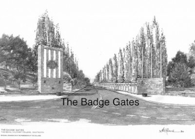 The Badge Gates, $60, A3 print