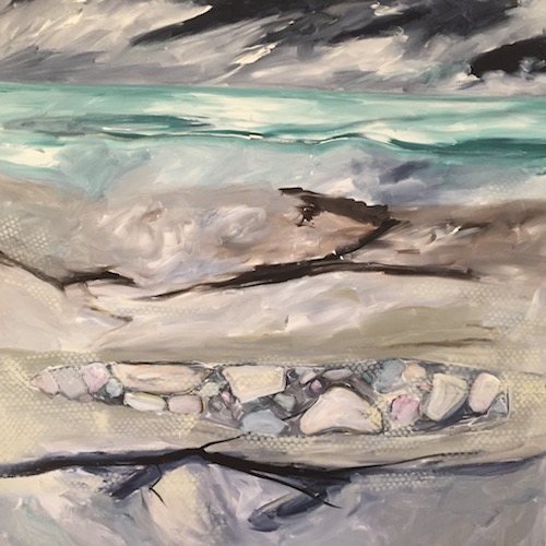 Jennifer Jackson, Coastal Journeys, $1500, 90x90cm