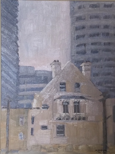 Marjorie Baker, Old and New North Sydney, $200, 40x30cm