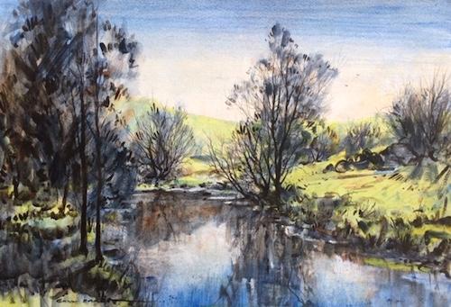 Gary Baker, Reflections, $690, 48x34cm