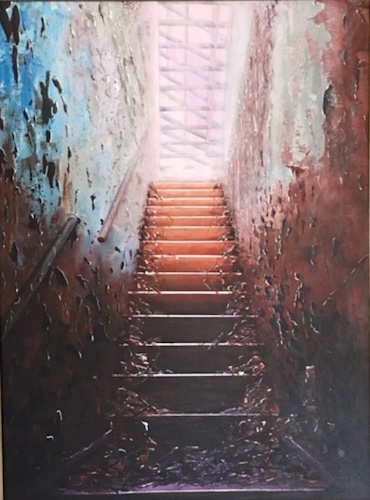 Barbara Haines, Steps to Light, $390, 69x53cm