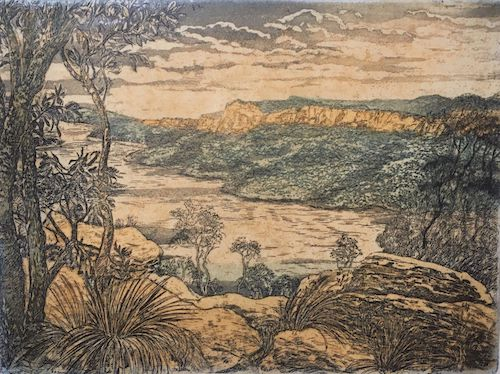 George Sayers, Burragorang Valley III, $65, 22x30cm