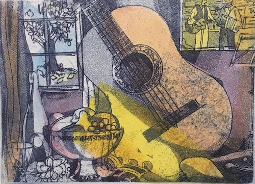George Sayers, Etching a Melody V, $45, 14x18.5cm