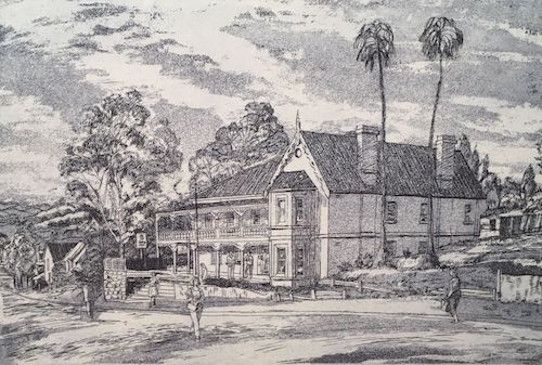 George Sayers, Imperial Hotel Picton, SOLD, 20x31cm