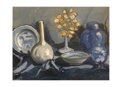 Marjorie Baker, Blue Study, SOLD, 60x46cm