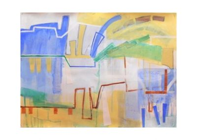 Moira Kirkwood, City by a Lake 2, $750, 56x76cm
