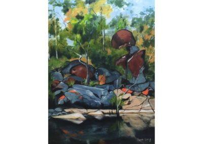 Ingrida Spole, Coomba Falls, SOLD, 64x49cm