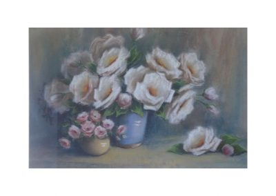 Olive McAleer, Iceberg Roses, SOLD, 36x54cm (re-sale)