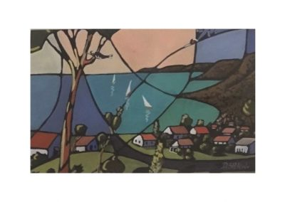 Doreen Shaw, Looking South Bermagui, SOLD, 30x15cm
