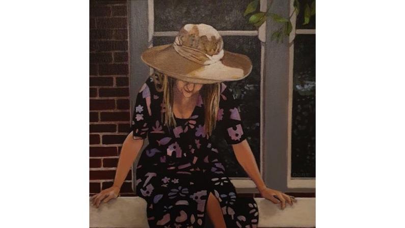 Victoria Dore, Self Portrait, $420, 30x30cm (sale pending)