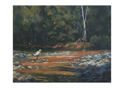 Ingrida Spole, Wollondilly River Crossing, $550, 49x64cm
