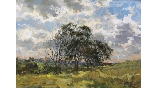 Gary Baker, Cattle Grazing, $500, 40x27cm