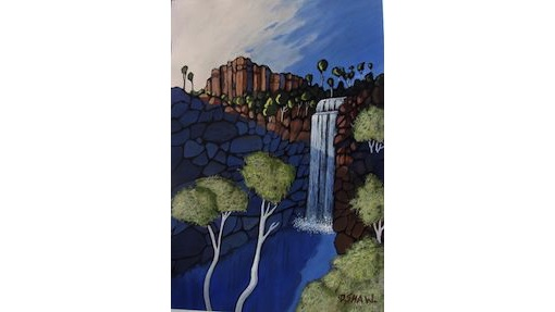 Doreen Shaw, Florence Falls, SOLD, 48.5x33cm